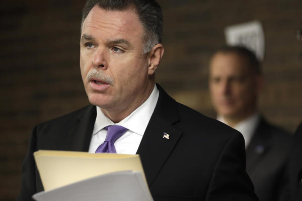 Chicago Police Superintendent Garry McCarthy announces the arrest of 24 offenders and the shuttering of a West Side liquor store during a press conference at the Harrison District Headquarters regarding two recent Narcotics Division investigations.