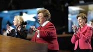 U.S. Senator Mikulski is applauded while addressing the second session of the Democratic National Convention in Charlotte
