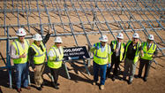 Local officials laid the ceremonial 1 millionth solar panel at the Tenaska project Monday, marking the midway point toward completion of the Imperial Valley's first large-scale solar project.
