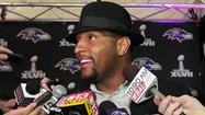 Wearing a black fedora and a dark checkered blazer and with his daughter at his side, <strong>Ray Lewis</strong> attended the premiere screening of the DVD that chronicles the Ravens' Super Bowl winning season last night at the Modell Performing Arts Center at the Lyric.