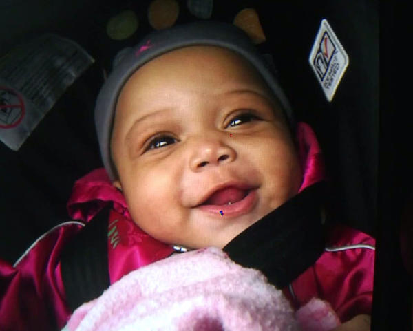 Jonylah Watkins, 6 months, was shot along with her father Monday in the Woodlawn neighborhood of Chicago.