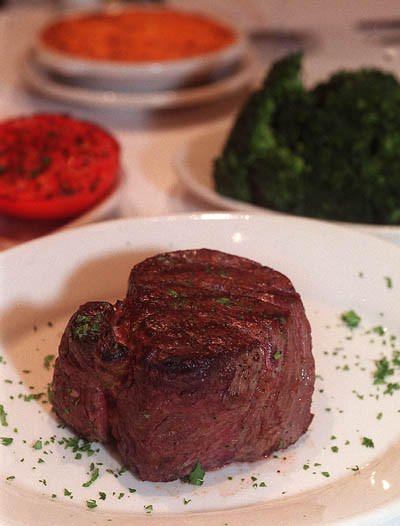 "Filet of beef at Ruth's Chris Steak House; three locations in Winter Park, off West Sand Lake Road in Orlando and Lake Mary<br><br><a href=""http://findlocal.orlandosentinel.com/search?q=ruth%27s+chris&commit=Search&type=businesses"">Get venue details here</a>"