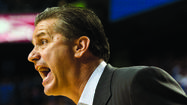 Kentucky coach John Calipari is not concerned about whether his team plays Vanderbilt or Arkansas in the Southeastern Conference Tournament quarterfinals Friday night in Nashville. Those two teams play Thursday with the winner advancing to take on UK, which got a bye for its second-place league finish.