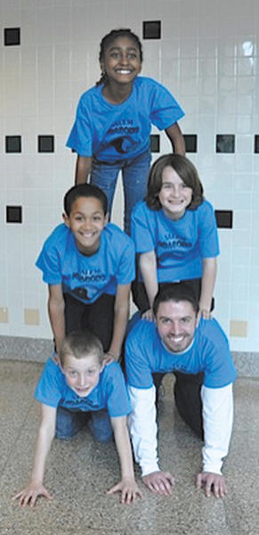The winning Destination Imagination team from Salem Avenue Elementary, includes bottom row, from left, Caleb Everhart and Ray Weber. Middle row, Journey Reed and Andrew Harris. Top row, Mariama Cham.