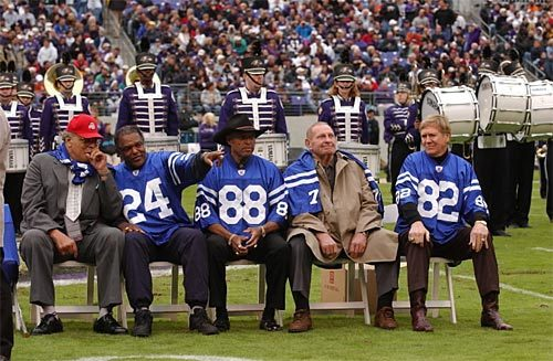 Sun archives: Baltimore Colts photos - Ring of Honor