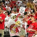 Fans celebrate Maryland's first NCAA men's basketball title