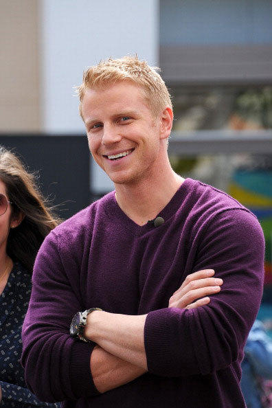 Sean Lowe visits 'Extra' at The Grove on March 6, 2013 in Los Angeles, California.