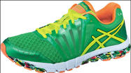 "To mark its inaugural sponsorship of the <a href=""http://www.lamarathon.com/"" target=""_blank"">Los Angeles Marathon</a> -- and acknowledge the fact that it's taking  place on St. Patrick's Day -- Irvine-based Asics has released a limited-edition running shoe."