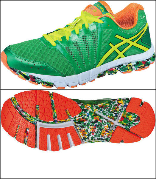 To commemorate its inaugural sponsorship of the L.A. Marathon, Irvine-based Asics has created a limited-edition running shoe ($90).