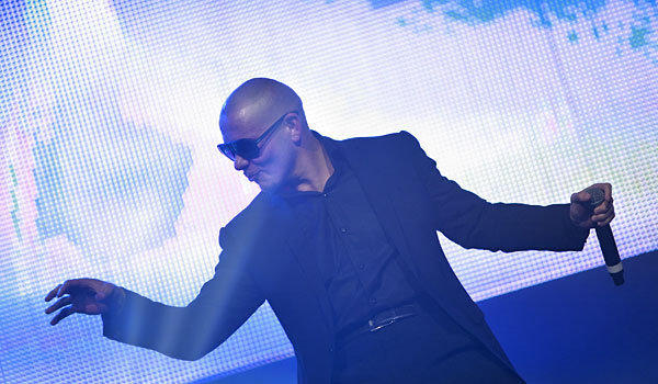Pitbull, shown here at the Gibson Amphitheatre in 2012, is among the guests scheduled to appear at the March 23 Kids' Choice Awards in L.A.