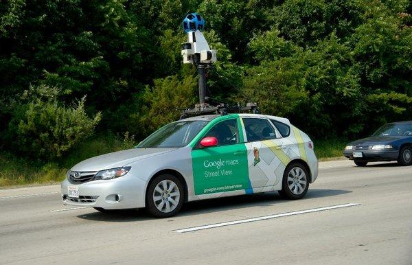 A Google Street View vehicle on Interstate I-66 near Centreville, Va.