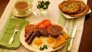 Let's set one thing straight right away: St. Patrick's Day stereotypes to the contrary, there's nothing green about an Irish breakfast.