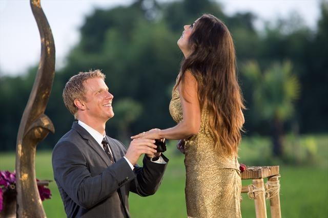 """Sean Lowe proposes to Catherine Giudici on the season finale of """"The Bachelor."""""""