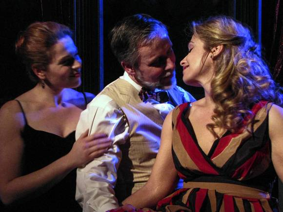 "Colette Todd, Sean Thomas and Kelli Harrington in Theo Ubique's ""Aspects of Love."""