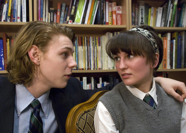 "William Carlisle (played by Connor Donnally)with Lilly Cahill (played by Alyson Danielczuk) in a scene from Connecticut Repertory Theatres upcoming Studio Works Series production of ""Punk Rock,"" by Simon Stephens"