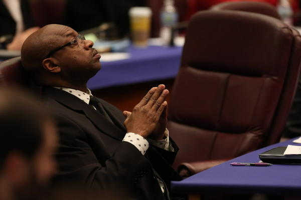 Ald. Willie Cochran, 20th, seen here in January at a City Council meeting, says he has asked gang members not to harbor fugitives.