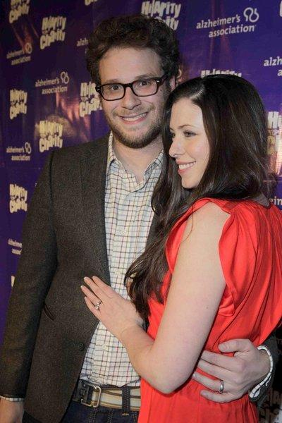 "Seth Rogen and Lauren Miller arrive at last year's ""Hilarity For Charity"" to benefit the Alzheimer's Assn. Rogen is hosting this year's event."