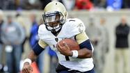 Trey Miller, Navy's second-string quarterback, could move to slotback