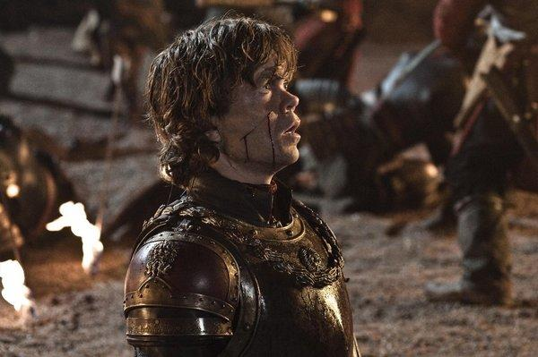 "Peter Dinklage, in a scene from HBO's ""Game of Thrones,"" looks like he could use a beer."