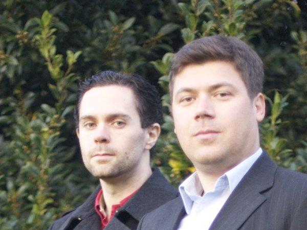 Max Marty, left, and Dario Mutabdzija are the co-founders of Blueseed.