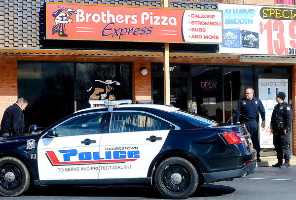 Hagerstown Police responded to a robbery Tuesday afternoon at Brother's Pizza Express at 1732 Dual Highway.