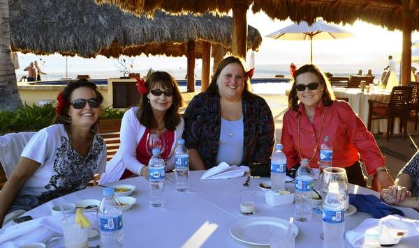 Traveling Ladies at lunch at Zoetry Casa Del Mar, Los Cabos