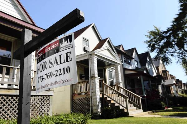A new DePaul housing study found many Chicago areas showing home prices increasing over the market low.