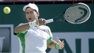 For a while Tuesday, the No. 1 men's tennis player in the world, Novak Djokovic, didn't play up to his rating and the No. 31 player, Grigor Dimitrov of Bulgaria, played well above his.