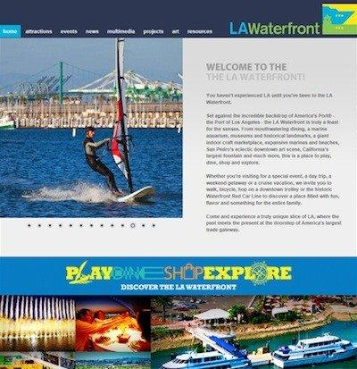 The new LA Waterfront website branded by the Port of Los Angeles aims to lure tourists, local and otherwise, to the area.