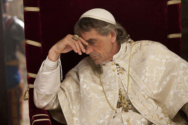 Jeremy Irons as Rodrigo Borgia in the Showtime series 'The Borgias.'