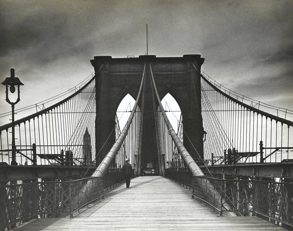 "Photographer Alexander Alland's ""Untitled (Brooklyn Bridge)"" is among the 150 vintage photographs in ""The Radical Camera: New York's Photo League, 1936-1951,"" on view March 14 to June 16 at the Norton Museum of Art."