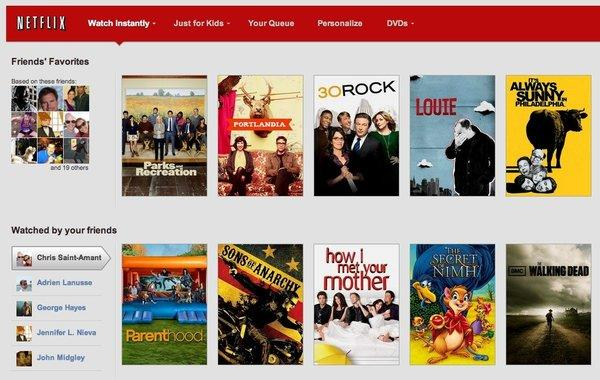 Netflix introduced new social features that make it easier for subscribers to find TV shows and movies and, if they choose, share that information on Facebook.