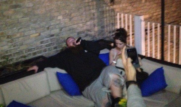 Rapper Action Bronson reclines and raps in the VIP area during a performance at the Belmont on night one of the South by Southwest music festival in Austin, Texas.