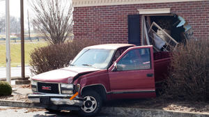 Truck runs through Danville medical office