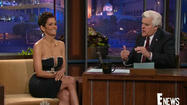 "Halle Berry's dress kept ""Tonight Show"" host Jay Leno more than engaged during the star's visit to the program Monday night. Berry left very little to the imagination in her cleavage-bearing Reem Acra mini-dress. [<a href=""http://www.latimes.com/entertainment/gossip/la-et-mg-halle-berry-dress-on-leno-the-call-x-men-20130312,0,5007562.story"">Los Angeles Times</a>]"