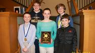 "St. Mary of Gostyn Catholic School's 7th grade math team came home with a first place finish in the Nazareth Academy Math Contest held on March 11, 2013. Five SMG students competed in two individual rounds, a team round and an ""overhead"" round."