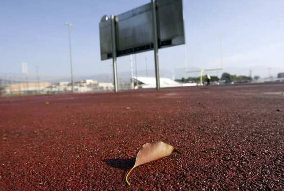 Memorial Field track at John Burroughs High School in Burbank.