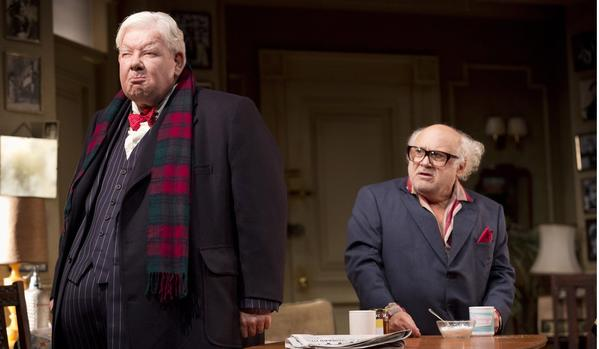 "Richard Griffiths, left, and Danny DeVito in the London production of ""The Sunshine Boys."" The Neil Simon comedy is a part of the 2013-14 season at the Ahmanson Theatre."