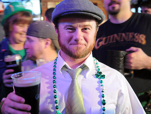"Peter Murphy, 30, of Bel Air in his Irish attire at Looney's in Canton on St. Patrick's Day.<br> <br> <b>See more <a href="" http://www.baltimoresun.com/entertainment/bthesite/bs-bthesite-krista-gallery-stpats0317,0,3112680.photogallery"">pictures of St. Patrick's Day</A> from b.</b>"