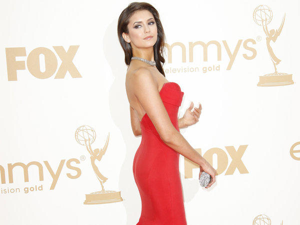 Nina Dobrev at the 63rd prime-time Emmy Awards show.