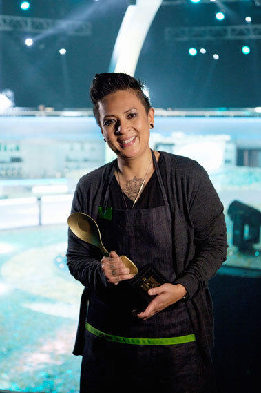 Khristianne Uy was awarded the trophy on 'The Taste.'