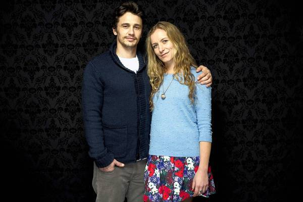 "Actor James Franco and director Christina Voros of the movie ""Kink."""
