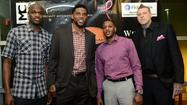 Miami Heat Players Joel Anthony, Udonis Haslem, Mario Chalmers, Chris 'Birdaman' Anderson