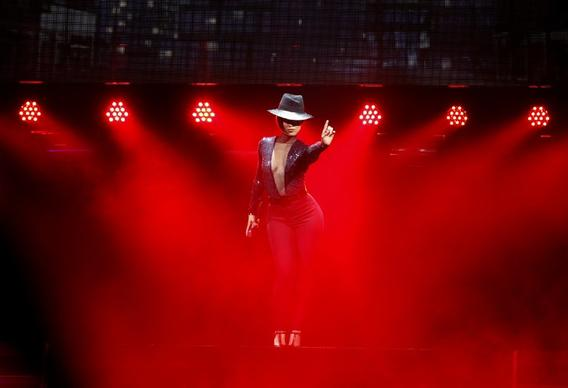 Alicia Keys onstage at Staples Center on Tuesday.