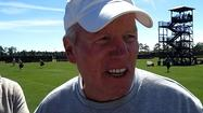 UCF coach George O'Leary talks after the Knights first day of spring practice on Wednesday.
