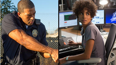 "David Otunga plays a police offer in an upcoming movie, ""The Call,"" which features actress Halle Berry."