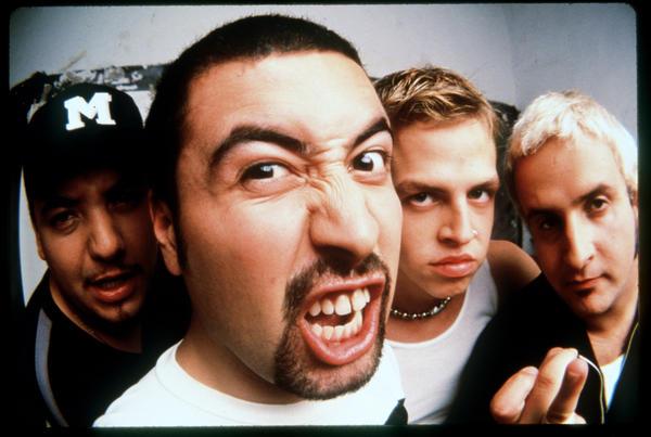 Mexican band Molotov, from left, Paco Ayala, Mickey Huidobro, Randy Ebright and Tito Fuentes.