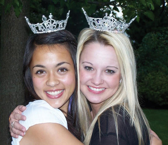Miss Smithsburg Outstanding Teen Brynn Dao, left, and Miss Smithsburg Lindsay Carroll will perform Saturday, March 23, during the Miss Smithsburg Scholarship Organization competition.