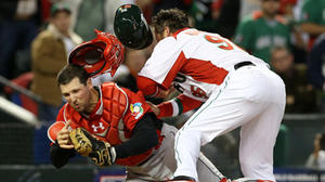 Orioles catcher Chris Robinson returns to camp after eventful World Baseball Classic