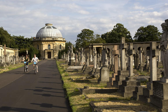 "Brompton Cemetery, the most central of London's ""Magnificent Seven"" graveyards. Because of its rich history, London is one of the best cities for touring cemeteries. It's a through-the-looking-glass way of understanding a place and how it grew."